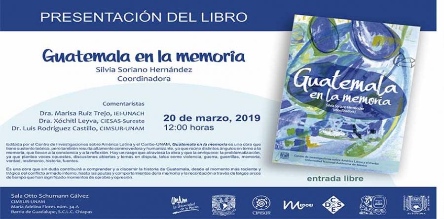 Presentación del libro: Guatemala en la memoria