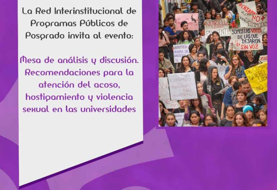 Mesa de análisis y discusión: Recomendaciones para la atención del acoso,  hostigamiento y violencia sexual en las universidades