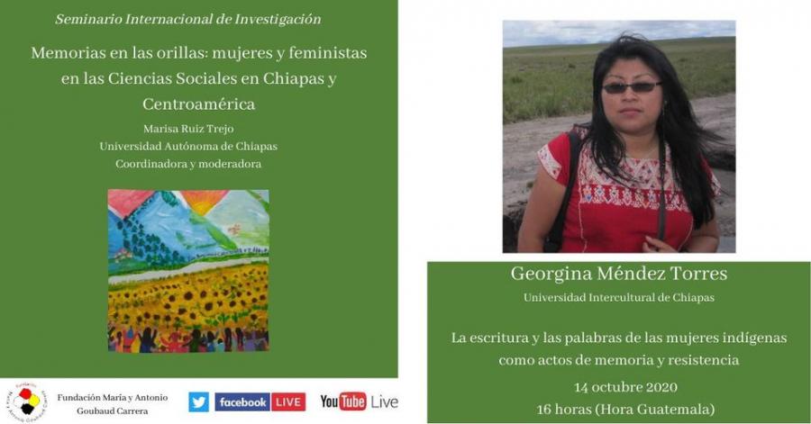 La escritura y la palabra de las mujeres indígenas   como actos de memoria y resistencia